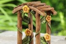 Trellis,Arbors & Garlands / For those gardens that need an enchanted entrance, OR fairy garden lovers that need the perfect entrance to their magical playground. Visit www.fairygardeningaustralia.com.au for amazing fairy products.