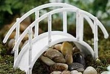 Garden Ponds & Bridges / Amazing ponds that bring you so much joy. Bridges that reach over water OR rock, from one side to the other. Use you fairy imagination and place any of these pieces in just the right spot.  www.fairygardeningaustralia.com.au