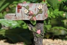Fairy Letter Boxes / Every fairy loves to receive fairy mail. Add a fairy mailbox to your magical garden. www.fairygardeningaustralia.com.au