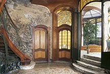 """Architecture: Secession, Art Nouveau, Jugendstil / Art Nouveau (French pronunciation: [aʁ nuvo], Anglicised to /ˈɑːrt nuːˈvoʊ/; at. Sezession, Czech Secese, Eng. Modern Style, Ger.. Jugendstil, Slovak. Secesia) or Jugendstil is an international philosophy and style of art, architecture and applied art – especially the decorative arts – that was most popular during 1890–1910.English uses the French name Art Nouveau (""""new art""""), but the style has many different names in other countries."""