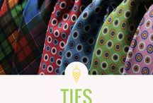 Ties / Men's Neck Ties, Timeless Patterns, Abstract, Designs, Great Menswear Fashion Apparel Accessory - Don't forget Dad on Father's Day