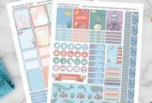DIY   Planning Printables / Du hast einen Filofax, Happy Planner oder Erin Condren Life Planner zum organisieren deines Alltags? Oder hat andere Hobbies rund ums Thema Scrapbooking? Dann findest du auf dieser Pinnwand viele kostenlose Sticker Vorlagen / free printables