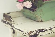 Shabby Chic / Lots of whites, pastels, vintage and style