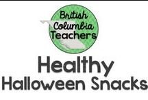 Healthy Halloween Snacks / Leave the cupcakes at home!  Some healthy ideas for school snacks at Halloween.