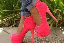 Sweet bright heels .... / I saw some amazing heels when I was searching up high heels and I thought that would look great if it was maybe a bright yellow or pink so I searched up bright heels and here I am ....
