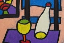 Flaszka / Flaszka (Martwa natura bez jabłka), olej na płótnie, 30 x 30cm, 2007.11.28