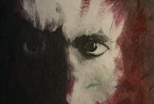 Twarz / Twarz (Autoportret fizyczny), olej na płótnie, 27 x 33cm, 1988.01.24