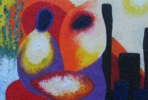 Miasto / Miasto (Samotni w tłumie miasta), olej na płótnie, 30 x 30cm, 2006.09.24