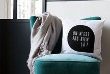 ✔ La Collection Coussin Germain / Coussins, pillow, cushion, fun, coussin, linge de maison, home design www.coussingermain.com