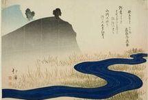 Japanese hanging scrolls & woodblock prints