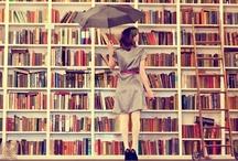 Bookshelf Love / Words stacked on paper stacked on shelves