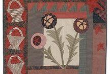 Prim / Primitive quilt designs by artists such as Jan Patek, Linda Brannock & Kim Diehl