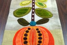 High Fiber Diet / Fiber art in wool, pearl cotton, beading, lace, silk and needle felting