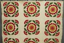 Antique Quilts ~ Applique / mostly 19th century applique. Reds + Green = Love + Cheddars = Yum! Princess Feathers have their own board. If you are looking for birds, they flew over to my 'For the Birds' board
