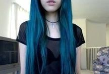 -- Alternative Hair -- / #alternative #hair #blue #pink #green