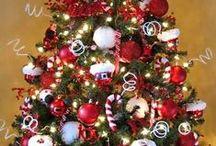 Small Christmas trees & snowmen