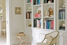 Bookcase Ideas / We have a long, empty wall in our living room -- and boxes and boxes of unpacked books with nowhere to go.