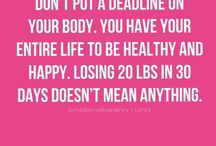 NOTE TO SELF / EAT 6 times A Day & Exercise