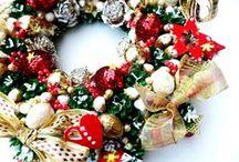 Nowsze wianki zimowe.Wreaths winter / Mniej czerwieni na Święta niż zwykle.