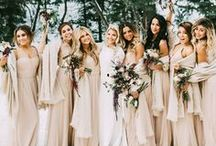 Bridesmaids Dresses / Bridesmaids inspiration - for the girls that will be your side on your big day!