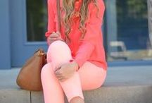 What to wear with coral, watermelon, / What to wear with coral