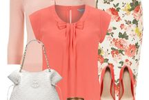 What to wear with salmon pink, peach?