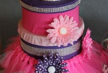 Real Party: Princess Theme / Ella turned 1, and she #celebrated in true #princess style with pink and purple everything, including a create-your-own #cupcake station and #tiara #favors