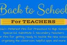 Back to School for TEACHERS (Preschool to High School) / Pins for Teachers, Special Ed, Substitute and Secondary. Popular pins for getting ready to tackle the new school year, organizing the classroom, helpful apps and more.