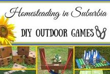 DIY - Outdoor Games for the Homestead / Get out the rulers, hammers, nails, spray paint and more.  Projects from simple to extreme for your outdoor fun!