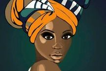 African woman illustrations / by Céline Seror