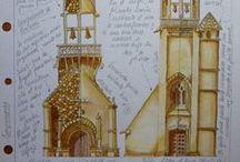 Acurelas, Watercolors / acuarelas, dibujos, mandalas, watercolor, draw