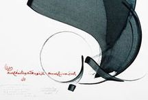Graphisme - Typographie/Calligraphie / Planches typographiques, travail typographique, fontes...