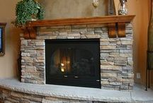 Ideas: Fireplaces / Inspiring ideas from around the web showcasing amazing fireplaces in tile and stone.  Come in to our store with your dreams and ideas found here and elsewhere on the web!