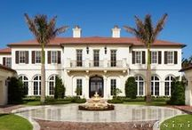 Neoclassical Oceanfront / An approximately 10,000 square foot Neoclassical Oceanfront home featuring traditional two story massing, with one story service wings on each end and a nearly all glass all season air-conditioned loggia facing the ocean.