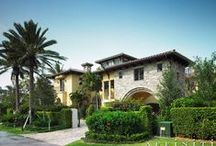Mediterranean Waterfront / nta Barbara Mediterranean architecture with sculptured openings frame a gated private motor courtyard.