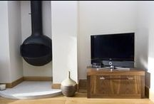 Living Room Inspirations / Innovations in Audio/Video, home security and lighting control enrich our living rooms and make them into true 'comfort zones'. #livingroom