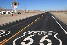 Voyage USA  Route 66 / Direction la route mythique des États-Unis : The Mother Road ou la route 66 + road Trip + Historic route 66,