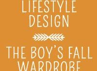 Boys Fall Wardrobe - Lifestyle Design / Inspiration for a fall wardrobe for my two boys