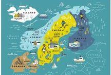 Travel MAP / Carte illustrée autour du monde - Travel Map all around the world