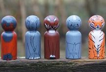 THA- Peg Dolls / All the current and past peg dolls, peg people, and peg animals that I have painted! Check out my etsy shop (etsy.com/shop/TreeHeadArt) to buy your own set!