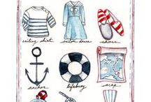 Nautical or Nice / I can't resist navy.  Or red.  Or white.  Or yellow.  LET'S GO SAILING RIGHT NOW!