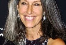 50 shades of Grey & silver / No more coloring my hair every 2 weeks. Will get low lights instead. Grey is the new blonde. / by Pat Evans