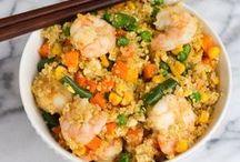 Quinoa Recipes / Recipes using quinoa -- high protein, super-food, pseudo grain. Pronounced Keen-wa! :)