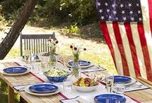 4th of July Festivities / We see fireworks: Red, white and true-blue recipes and party ideas.