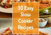 Crockpot and Slow Cooker Recipes / Toss a few ingredients in while you're brewing your morning java . . . voila, dinner is done and waiting for you at the end of the workday.