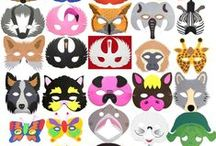 Childrens Animal Masks / Children's animal foam and plastic face masks