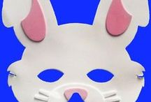 Easter Toys and Face Masks / Easter toys and masks including soft toy rabbits and lambs, and Easter bunny face masks and lamb face masks suitable for kids and grownups!