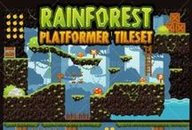 Game Tileset / A collection of royalty free 2D game asset / tileset available for sale at: www.gameart2d.com