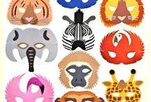 Childrens Jungle Animal Masks / Jungle Animal Foam Face Masks available at www.bluefrogtoys.co.uk