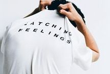 Slogan tees / An inspirational board focusing on slogans, from t-shirts to jackets, from BDA London.